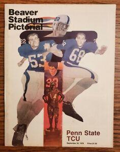 Penn State TCU Football Program 9/30 1978 Cappelletti Lucas Reid Resslet Maxwell