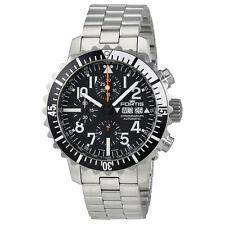Fortis Marine Master Black Dial Chronograph Mens Watch 671.17.41 Mg