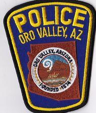 Oro Valley  Police Patch Arizona AZ NEW !!!