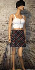Y2K Plaid Skirt Corset Sides Exact Change Grunge