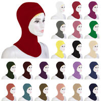 Muslim Soft Under Scarf Hat Cap Bone Bonnet Neck Cover Hijab Cap Women Islamic