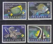 SINGAPORE 1995 MARINE FISH COMP. SET OF 4 STAMPS SC#733-736 IN MINT MNH UNUSED