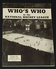 1936-1937 EDITION - WHO'S WHO IN IN THE NHL - BEEHIVE PREMIUM - GUIDE - ORIGINAL