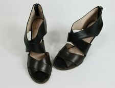 Plenty by Tracy Reese Size 8.5 Women's Wedges Sandel Black  and Brown Leather