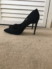 Black Suede Red Baker Court Shoes Size 7 / 40 - Only Worn 3 Times