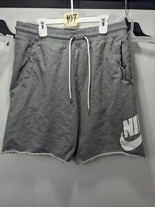 Men's NIKE Grey French Terry Frayed Sweat Shorts Size Large