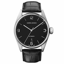 Georg Jensen 42mm Automatic Watch. Black dial /Alligator strap - Delta Classic