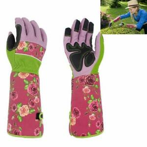 2 PCS Rose Pruning Thornproof Gardening Gloves Long Forearm Gloves Protection