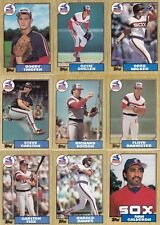 1987 Topps White Sox 3 master team sets with traded Mint razor sharp Fisk