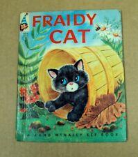 Vtg FRAIDY CAT 8319 ~ Marjorie Barrows / Tamburine ~ 1959 Rand McNally Elf HC