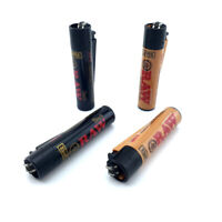 RAW Clipper Lighter Gas Refillable Lighter RAW Black Smoking Papers
