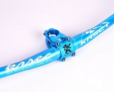 KRSEC 760mm Handlebar riser bar MTB DH AM XC Bike Short 0° Stem 31.8*45mm set