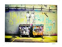 BANKSY - LIMITED EDITION #13 OF 35 * LIFE IS SHORT *