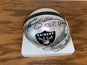 Ken Stabler Mini Helmet Oakland Raiders Kenny Super Bowl XI Champs Las Vegas COA