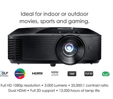 Optoma HD143X High Performance 1080p HomeTheater Projector 3000 Lumens 3D