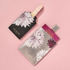 Ted Baker Clove Passport Holder + Luggage Tag Set in Gift Box Vegan Leather NEW