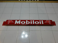 XL 33''Door push bar antique vintage Mobil Oil gasoline advertising Red