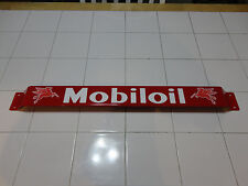 Door push bar antique vintage Mobil Oil gasoline advertising Red