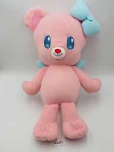 "Aikatsu! A2510 Angely Pink Bear Banpresto Dx 2014 Plush 11"" Toy Doll Japan"