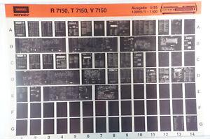 Grundig Service R7150 T7150 V7150 Hifi Verstärker Receiver Microfiche 1985 K207
