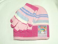 NEW ~STRAWBERRY SHORTCAKE~ KNIT BEANIE HAT AND GLOVE SET