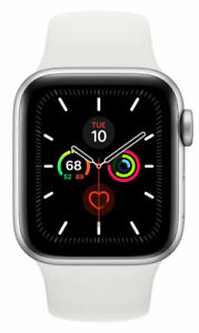 Apple Watch Series 5 GPS + LTE 40MM Silver Aluminum Case & White Sport Band