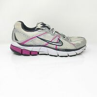 Nike Womens Air Zoom Pegasus 26 365745-101 Gray Pink Running Shoes Lace Up Sz 8