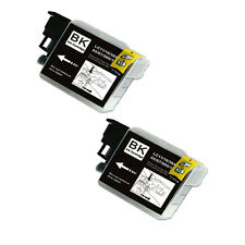 2 BLACK Ink Cartridge for Series LC61 Brother MFC 490CW 495CW 585CW J265w J270w