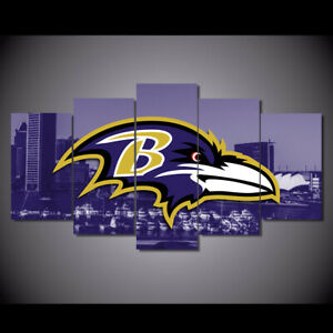 5Pcs BALTIMORE RAVENS City Canvas Picture Print Painting Wall Art Home Decor NEW