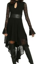 ROYAL BONES TRIPP GOTHIC WICCAN LACE DRESS VAMPIRE GOWN NWT SZ MD HALLOWEEN