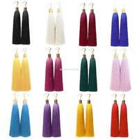 Multi Fashion Bohemian Women's Vintage Long Tassel Fringe Boho Dangle Earrings