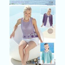 ee8b3276e Sirdar Childrens   Womens Crochet Pattern - 7238 - Jacket