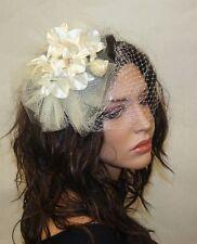 Wedding Headpiece,White off Fascinator on a clip, Wedding Hair Accessories