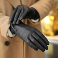 Women' Genuine Sheepskin Leather Gloves - Mid Length, Cashmere Lined Touchscreen
