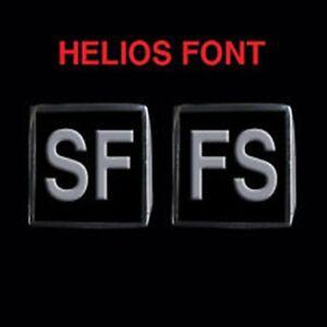 Stainless Steel SFFS 2 Piece MC Club Biker Ring Set Helios font Custom size