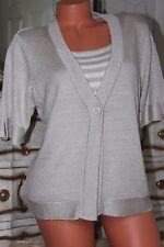 S100 E soft cream elasticated acrylic jumper sweater top size 14