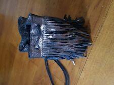 John Lewis Weekend Leather Tassel Rucksack shoulder  Backet Bag Copper Shimmer
