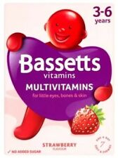 Bassetts Chewy Gummies Kids Multivitamin 🍓Strawberry Vitamins A B C D E Age 3-6