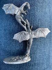 Vintage 1988 J Guthrie Pewter Dragon Figure Gallo