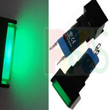 1pcs Square 12mm GREEN  Indicator LED Lamp Light 12v for Amplifier Signal CE UL
