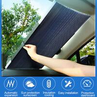 Aluminum Foil Retractable Car Windshield Sun Shade Visor Block Cover Universal