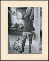 """Hayley Mills In Sexy Stockings Original Signed 10x8"""" Mounted Autograph Photo COA"""