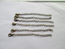 """Reino Unido 6 X 4"""" extensión de bronce collar/pulsera joyería extender Bordillo Cadena De Eslabones"""