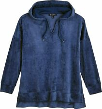 Coolibah UPF 50+ Womens Beach Velour Hoodie Size S Midnight Blue New RRP $99.50