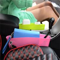 1pc Car Seat Gap Caddy Catcher Box Slit Pocket Storage Holder Organizer Green