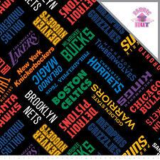 NBA All Teams logo Toss Fleece Fabric
