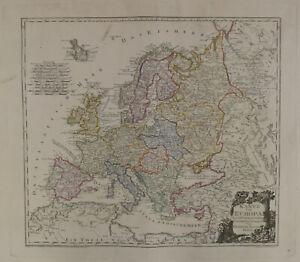Reilly Map of Europe c1796 Karte von Europa. Nach d'Anville und Has