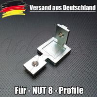 2 Stück Eckwinkel Innenwinkel für Aluprofil 30mm, Nut 8, Profilverbinder L0054