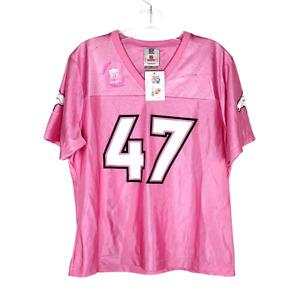 NFL Denver Broncos John Lynch 47 Women's Jersey Pink Size Large NWT