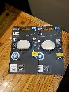 Feit Electric 50W Bright White (3000K) Puck G8 Bi-Pin Base LED Light Bulb 2 PACK